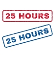 25 Hours Rubber Stamps vector image vector image