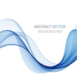 Abstract colored wave on white vector image vector image