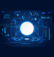 abstract technology ui futuristic concept hud vector image