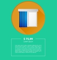 ad layout for window louvers vector image
