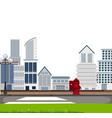 an urban town scene vector image vector image