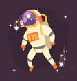 astronaut in space suit working in open space vector image vector image
