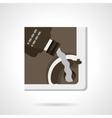 automobile oil change flat color icon