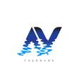 av a v letter logo design with water effect