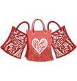 Bags shopping love vector image vector image