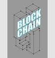 blockchain network isolated cyber concept matrix vector image