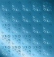 Blue Floral Pattern Vintage Background vector image vector image