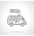 Bus for sale flat line design icon vector image