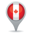 canada flag pointer vector image