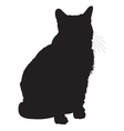Cat Silhouette 1 vector image vector image