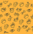 chinese food concept icons pattern vector image vector image