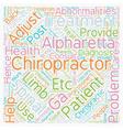 chiropractor alpharetta ga text background vector image vector image