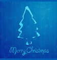 christmas greeting card with blue background vector image