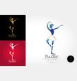 classical ballet logo vector image vector image