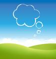 cloud fields vector image vector image