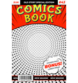 comic book template colourful brochure retro vector image vector image