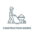 construction works line icon linear vector image vector image