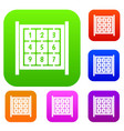 cubes with numbers on playground set collection vector image vector image