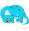 cute brontosaurus cartoon vector image vector image
