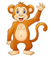 cute chimpanzee cartoon vector image