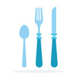 cutlery flat material design isolated object on vector image