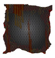 dirty and rusted metallic grill perforated vector image vector image
