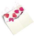 Envelope with hearts vector image vector image