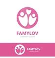 family logo design template vector image vector image