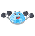 fitness character cartoon ice house in snowfield vector image vector image