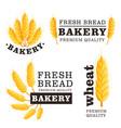 fresh bread isolated logo set vector image vector image