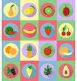 fruits flat icons 20 vector image vector image