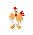 funny cock keeps eggs vector image vector image