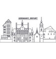 germany erfurt line skyline vector image