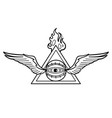graphic winged all-seeing eye with triangle vector image