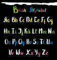 hand drawn font handwritten alphabet letters and vector image vector image