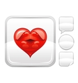 Happy Valentines day romance love heart Sexy kiss vector image