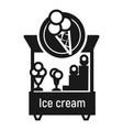 ice cream kiosk icon simple style vector image