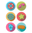 Icons bright vector image vector image