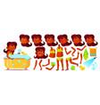 indian girl hindu child animation set vector image vector image