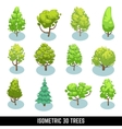 Isometric 3D trees landscape elements set vector image vector image