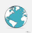 Modern globe drawing concept vector image