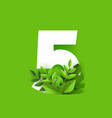 number five design with vector image vector image