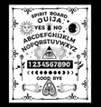 ouija board with skull occultism set vector image vector image