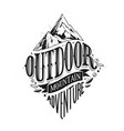 outdoor hand drawn lettering vector image vector image