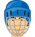 person men hockey player in defensive send vector image