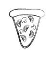 pizza slice icon image vector image