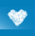 realistic cumulus cloud heart on vector image vector image