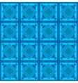 Seamless blue geometric pattern vector image