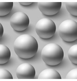 Seamless pattern with realistic grey spheres vector image