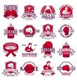 set cool fighting club emblems labels badges vector image